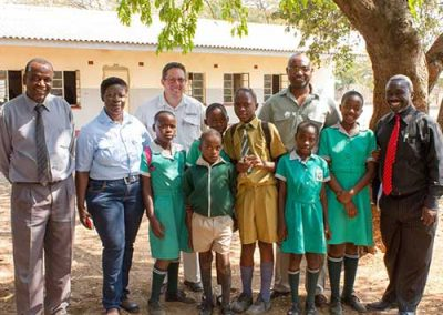 Visiting a local school on the Township Tour