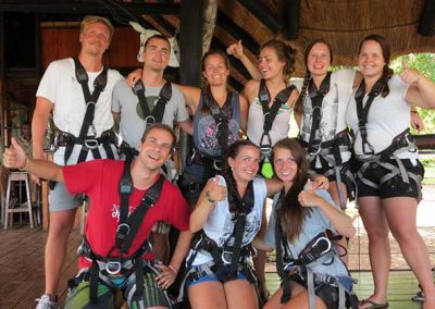 Group photo before the Zipline