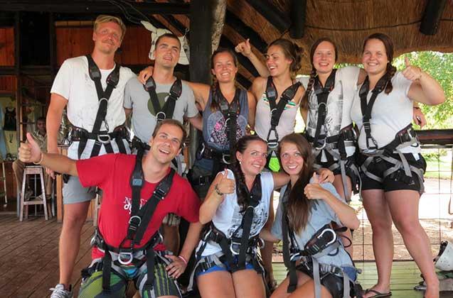 Group photo before the Zipline