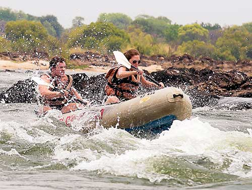 Canoeing in Victoria Falls