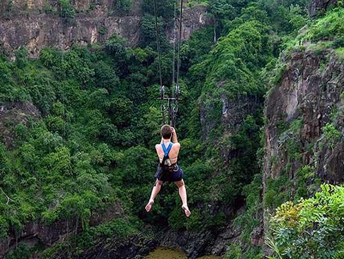 Ziplining in Victoria Falls