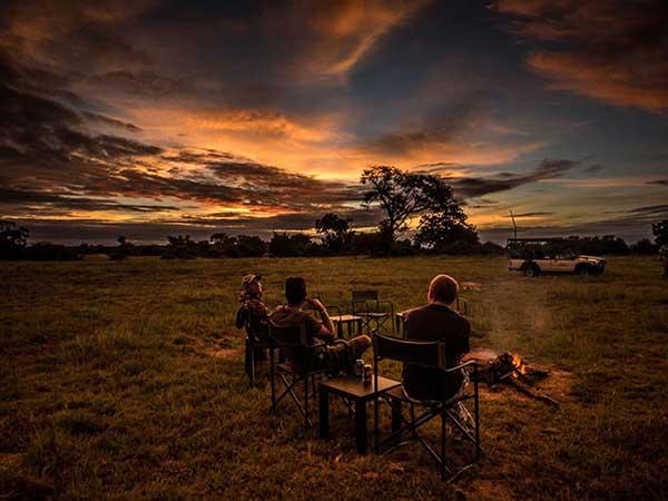 The Elephant Camp lounge area.