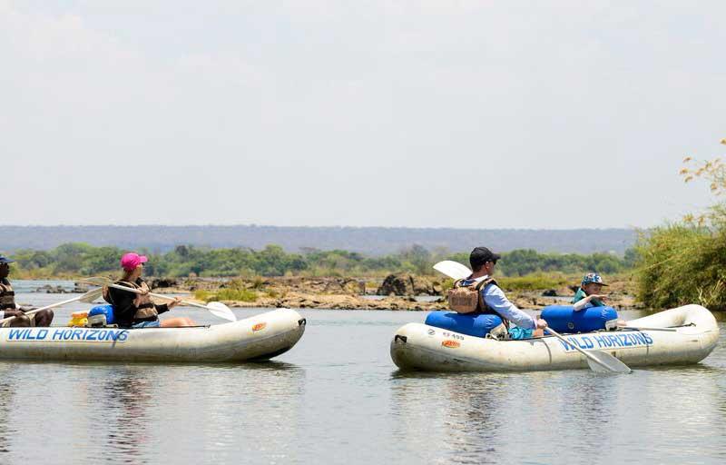 Canoeing Zambezi River