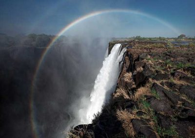 Rainbow over The Victoria Falls