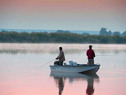 Fishing on the mighty Zambezi River