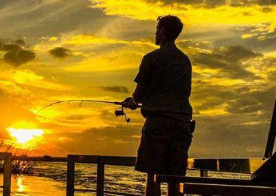 Fishing Safari - the African sunset