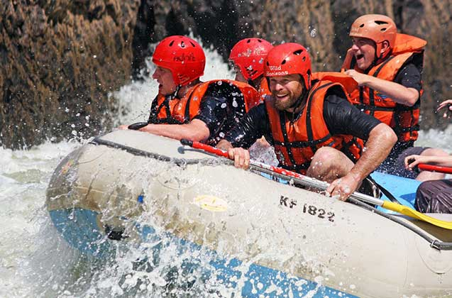 White Water Rafting down the Zambezi