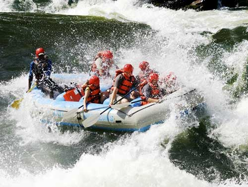 White Water Rafting in Victoria Falls