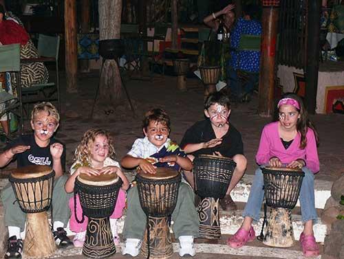 Interactive Drumming at The Boma