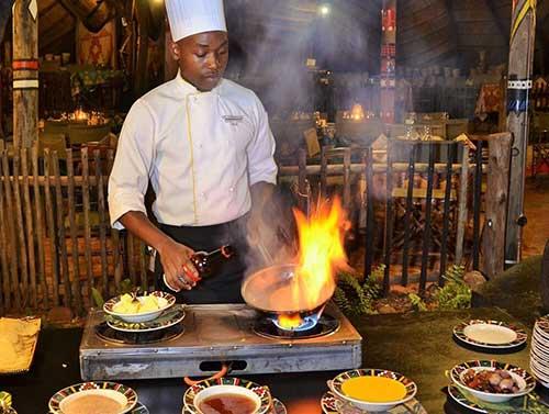 Flaming Good Cuising at The Boma