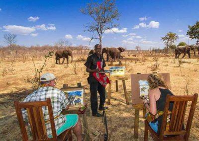 Victoria Falls Activity - Elephant Art