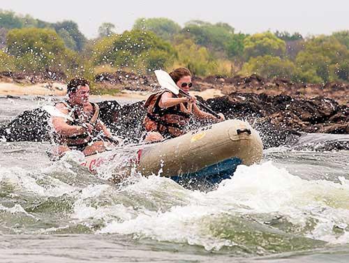 canoeing-waves