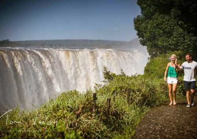 Couple on the Victoria Falls Tour
