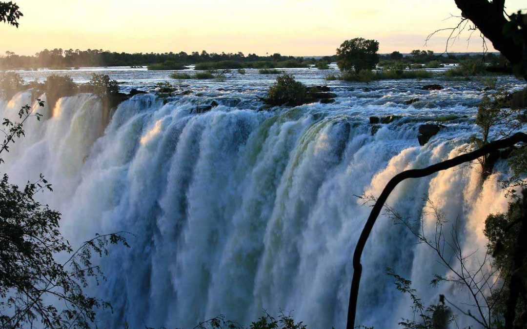 Victoria Falls viewed from Zambia
