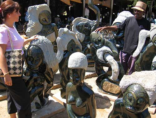 Art and Craft Shopping at local Victoria Falls markets