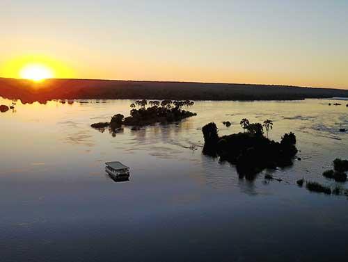 Sunset on the Royal Zambezi Cruise