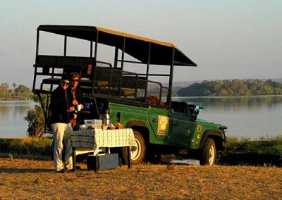 Game Drive on the banks of the Zambezi River