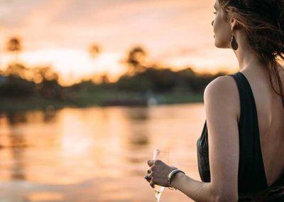 Sundowners on the Mighty Zambezi