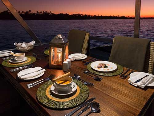 Fine Dining on the Zambezi River with Wild Horizons