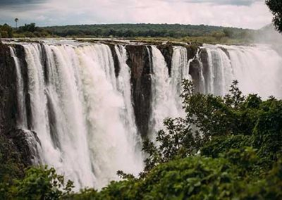 The Victoria Falls in January