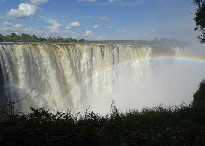 View of the Victoria Falls in March