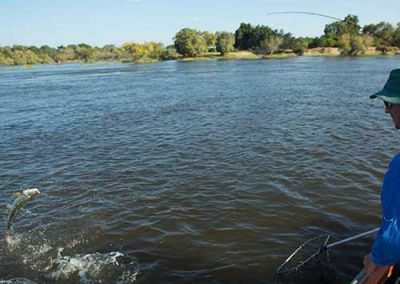 Fishing on the mighty Zambezi