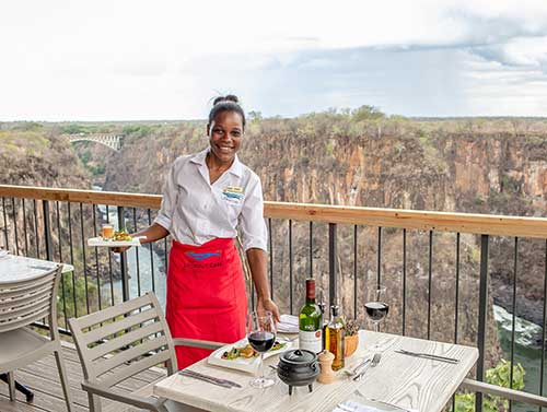 Victoria Falls Lookout Cafe waitress