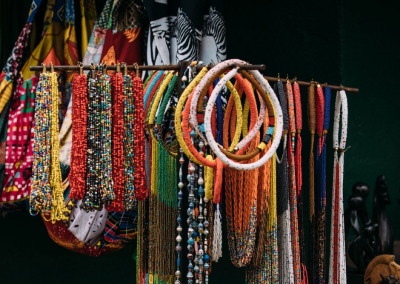 Colourful locally made jewellery - the perfect Victoria Falls keepsake